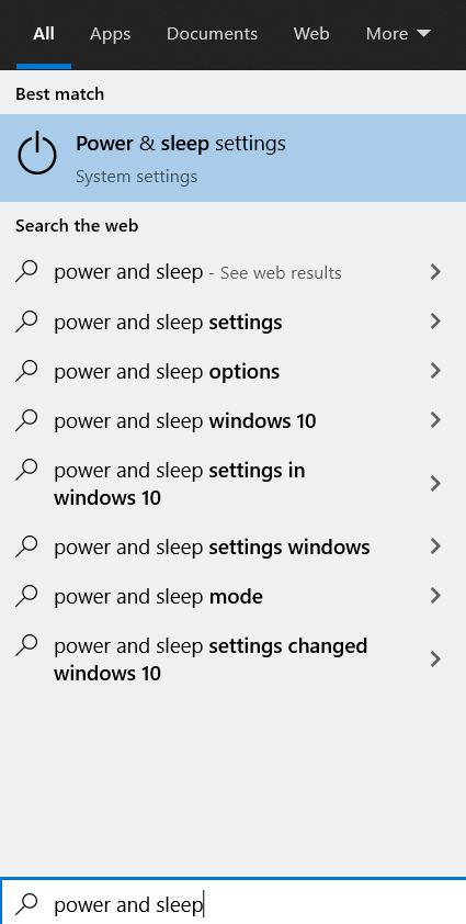 Windows Power and Sleep Settings