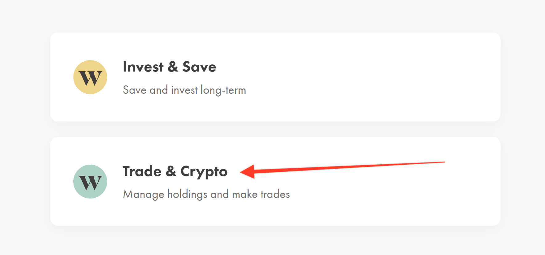 Wealthsimple Trade and Crypto